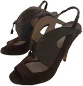 Nicholas Kirkwood Brown Suede Sandals