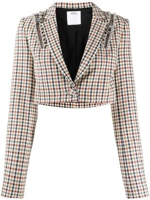 Area Houndstooth Cropped Blazer