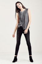 True Religion Asymetrical Womens Studded Tank