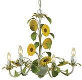 AF Lighting Elements Kansas Sunflowers Chandelier