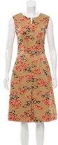 Carolina Herrera Eyeglass Print Sheath Dress