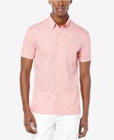 Perry Ellis Men's Yarn-Dye Stripe Short-Sleeve Shirt
