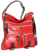 Nino Bossi Women's Violet Bouquet Leather Crossbody Bag