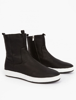 Officine Creative Black Leather Slip-on Boots