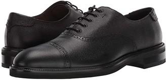 Salvatore Ferragamo Toby Cap Toe Oxford (Black) Men's Shoes