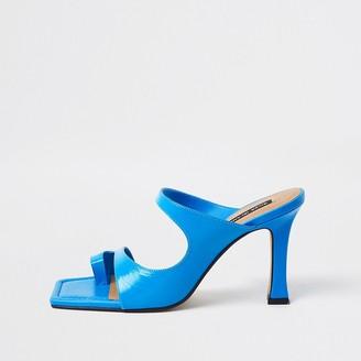 River Island Blue toe loop mule sandal