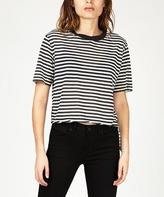 Ksubi Slasher Decon Crop T-Shirt Strummer Decon Stripe