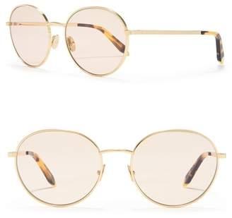 Victoria Beckham 55mm Round Sunglasses