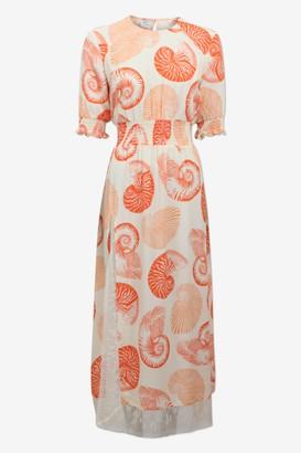 Baum und Pferdgarten Aleela Dress in Cream Shell - XS. | viscose