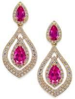 Macy's Certified Ruby (1-1/2 ct. t.w.) & Diamond (3/4 ct. t.w.) Drop Earrings in 14k Gold (Also Emerald & Sapphire)
