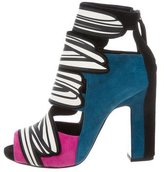 Pierre Hardy Splash Peep-Toe Booties w/ Tags