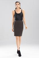 Josie Natori Textured Knit Jacquard Pencil Skirt