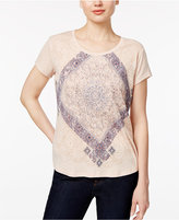 Style&Co. Style & Co Petite Paisley Graphic T-Shirt, Only at Macy's
