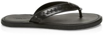 Bottega Veneta Storm Leather Flip Flops