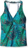 Jantzen Women's Palm Springs H-Back Dforwardslashdd Tankini Top