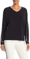 T Tahari Long Sleeve V-Neck Pullover
