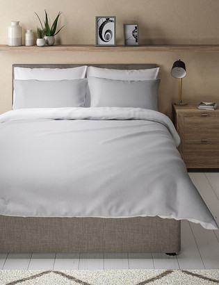 Marks and Spencer Pure Cotton Striped Seersucker Bedding Set