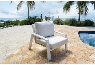 Panama Jack Mykonos Patio Chair Outdoor Cushion Color: Sunbrella Dolce Mango