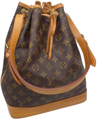 Louis Vuitton Vintage Noe Brown Cloth Handbag
