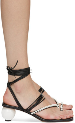 J.W.Anderson Black Pearl Heeled Sandals