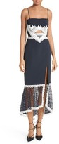 Jonathan Simkhai Women's Cutout Lace Inset Midi Dress