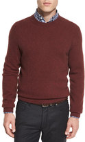 Ermenegildo Zegna Seamless Yak Crewneck Sweater, Red