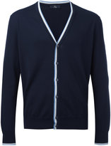 Fay striped trim cardigan - men - Cotton - 46