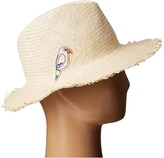 Hat Attack Parrot Patch Fringed Rancher Caps
