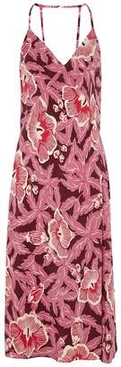 Equipment Allianna floral-print silk dress