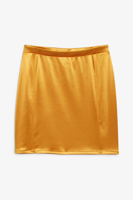 Monki Mini satin skirt