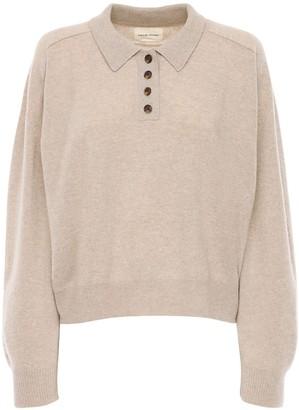 LOULOU STUDIO Forana Cashmere Knit Polo Sweater
