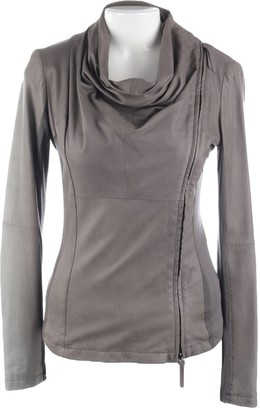 Emporio Armani Brown Leather Jacket for Women