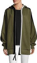 Public School Leta Hooded Oversized Jacket w/ Striped Trim