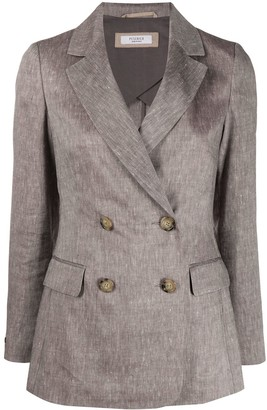 Peserico Double-Breasted Fitted Jacket