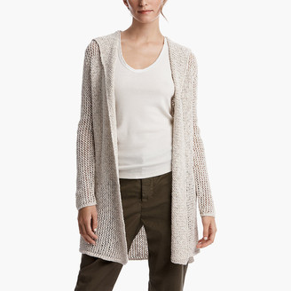 James Perse Cotton Linen Hooded Cardigan