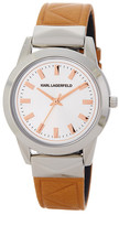 Karl Lagerfeld Women's LaBelle Leather Strap Watch