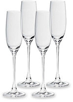 Lenox Tuscany Classics Fluted Crystal Champagne Glasses, Set of 4