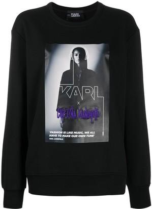 Karl Lagerfeld Paris Logo Graphic Print Sweatshirt