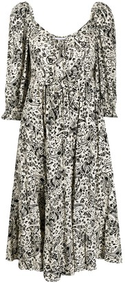 Faithfull The Brand Paisley Print Dress