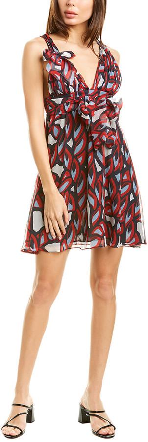 Pinko Robinia Silk Mini Dress