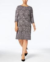 MICHAEL Michael Kors Size Mixed-Print Shift Dress