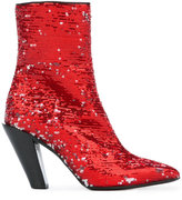 A.F.Vandevorst sequined ankle boots - women - Leather/Polyethylene - 36.5