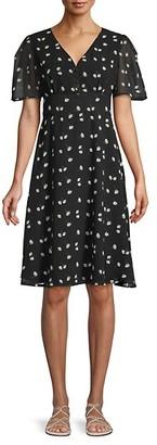 Alexia Admor Daisy-Print Fit--Flare Dress