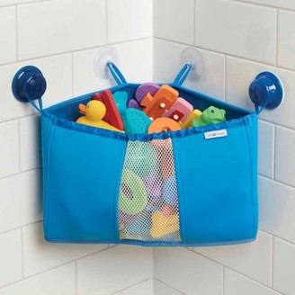 InterDesign Kids Neoprene Baby Bath Toy Organizer, Blue