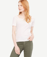 Ann Taylor Ribbed Square Neck Top