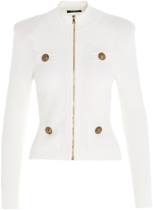 Balmain Front Zip Knitted Jacket