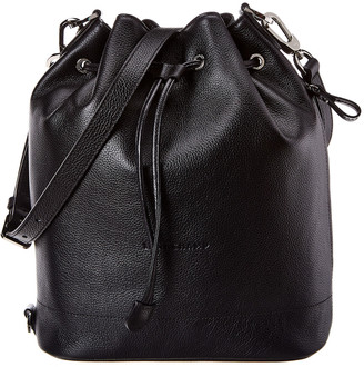 Longchamp Le Foulonne Medium Leather Bucket Bag