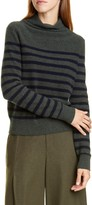 Vince Breton Stripe Turtleneck Cashmere Sweater