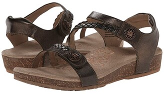 Aetrex Jillian Quarter Strap (Black) Women's Sandals