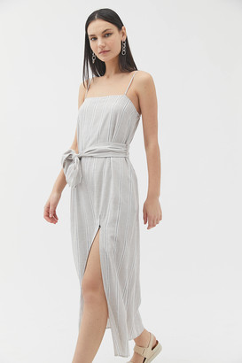 Dress Forum Striped Tie-Waist Midi Dress